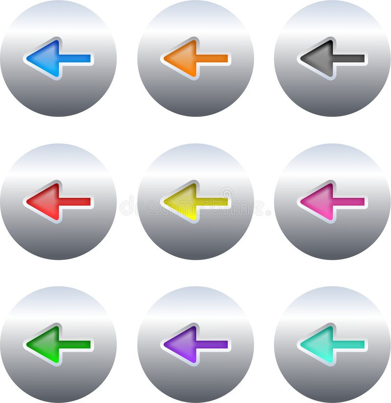 кнопки стрелки иллюстрация штока