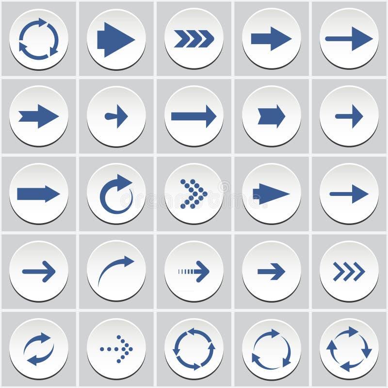 Кнопки стрелки иллюстрация вектора