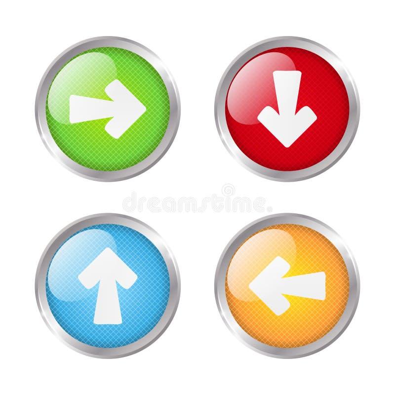 Кнопки с стрелками иллюстрация штока