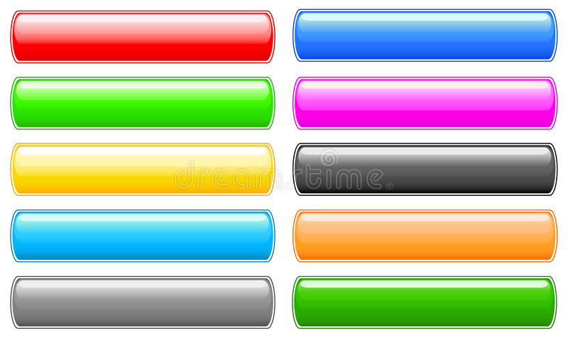 кнопки установили глянцеватой иллюстрация вектора