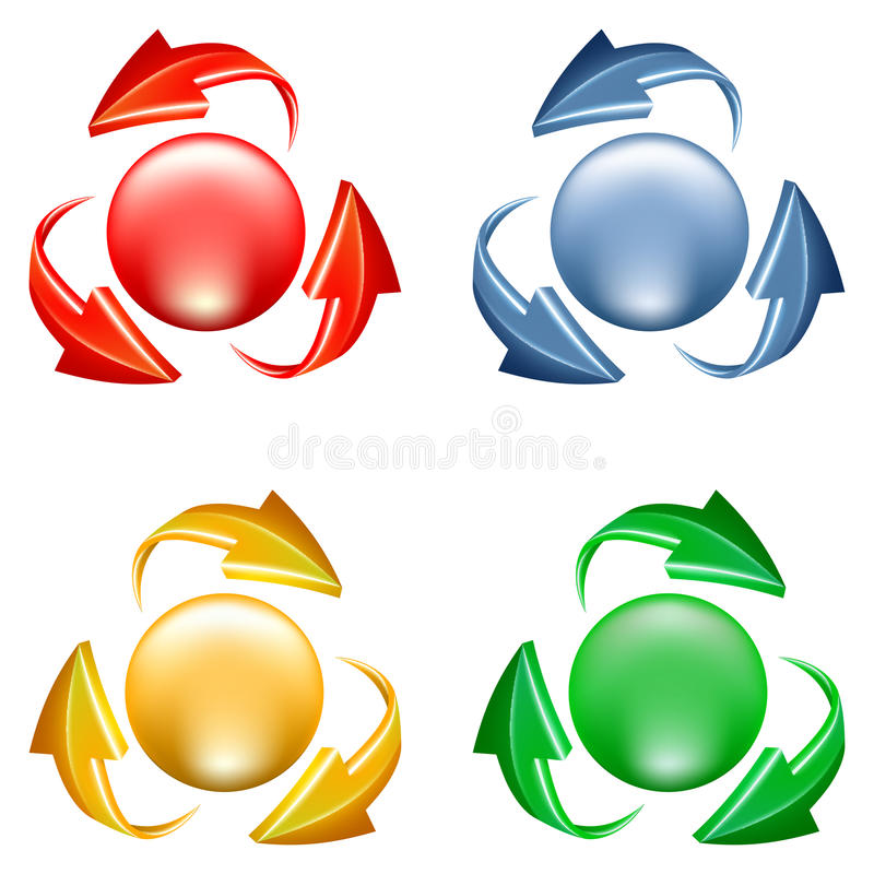 Кнопки установленные с стрелками иллюстрация штока