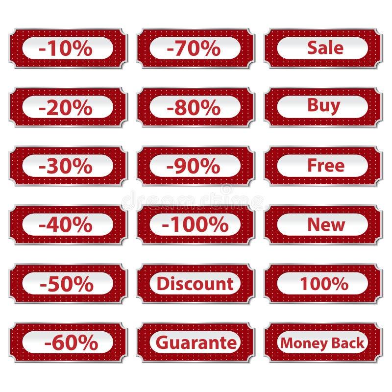 кнопки уценивают комплект бесплатная иллюстрация