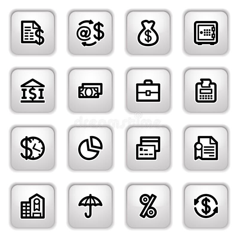 кнопки финансируют серые иконы бесплатная иллюстрация