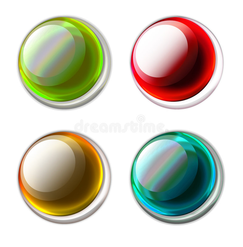 кнопки иллюстрация штока