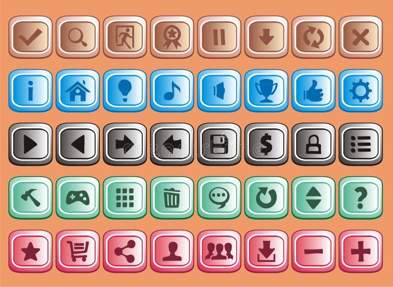 Кнопки 6 иллюстрация вектора