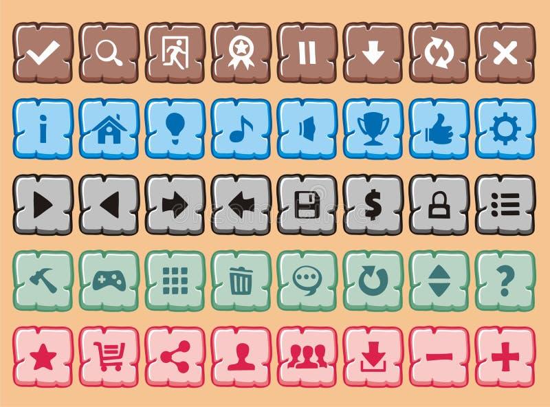 Кнопки 9 иллюстрация вектора