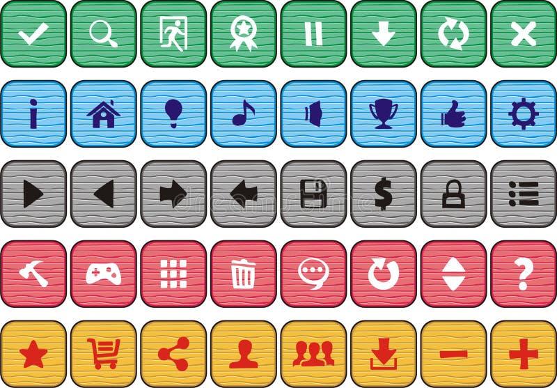 2 кнопки бесплатная иллюстрация