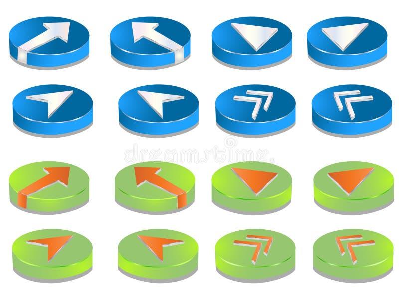 кнопки 3d иллюстрация вектора