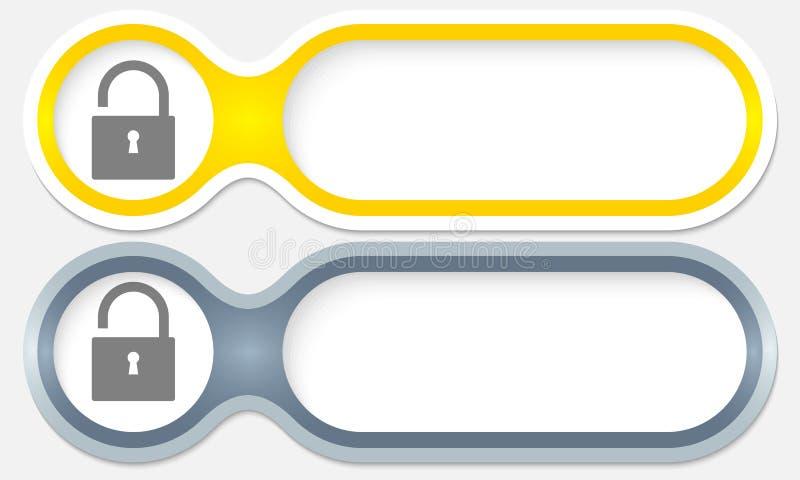 2 кнопки иллюстрация штока