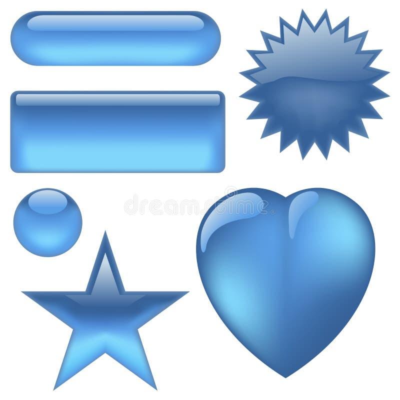 кнопки aqua бесплатная иллюстрация