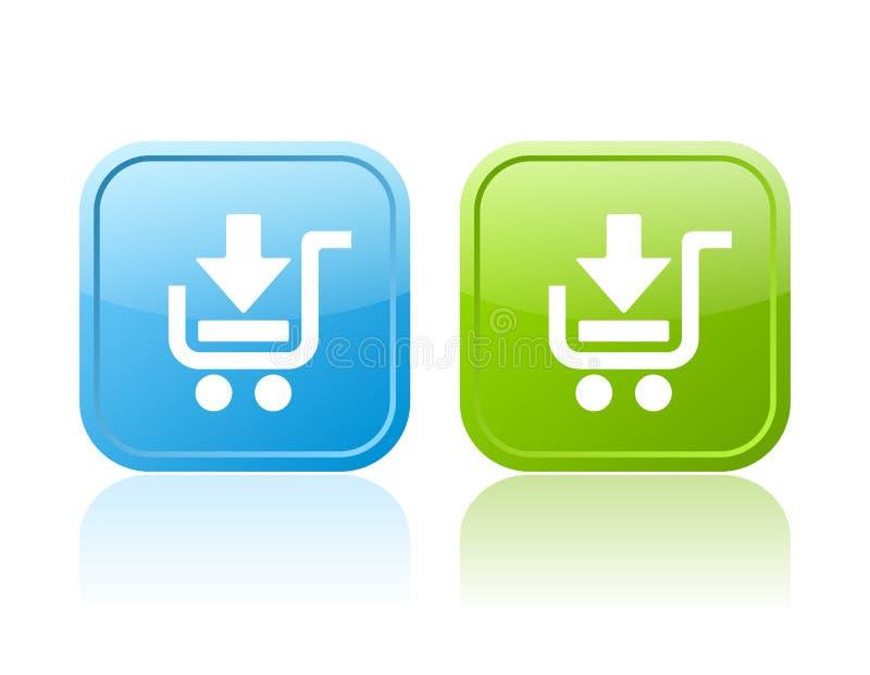 кнопки cart shoping бесплатная иллюстрация