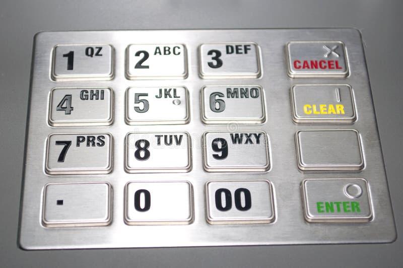 кнопочная панель atm стоковая фотография rf
