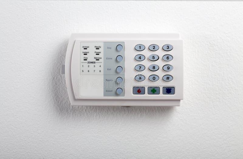 Кнопочная панель системы безопасности стоковые изображения