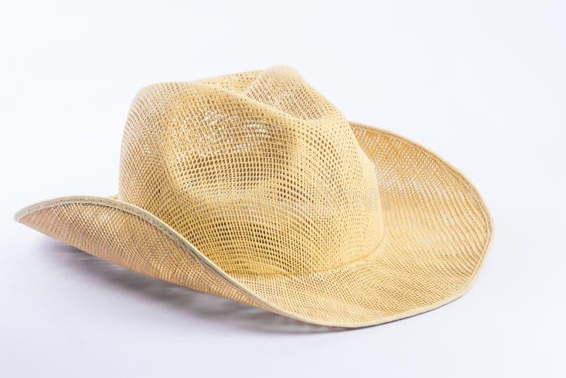 Ковбойская шляпа на предпосылке белизны изолята стоковые фотографии rf