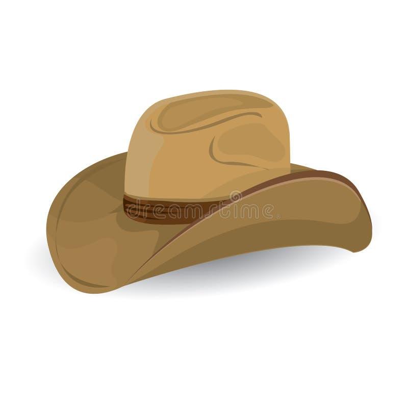 Ковбойская шляпа. иллюстрация вектора. стоковое изображение rf