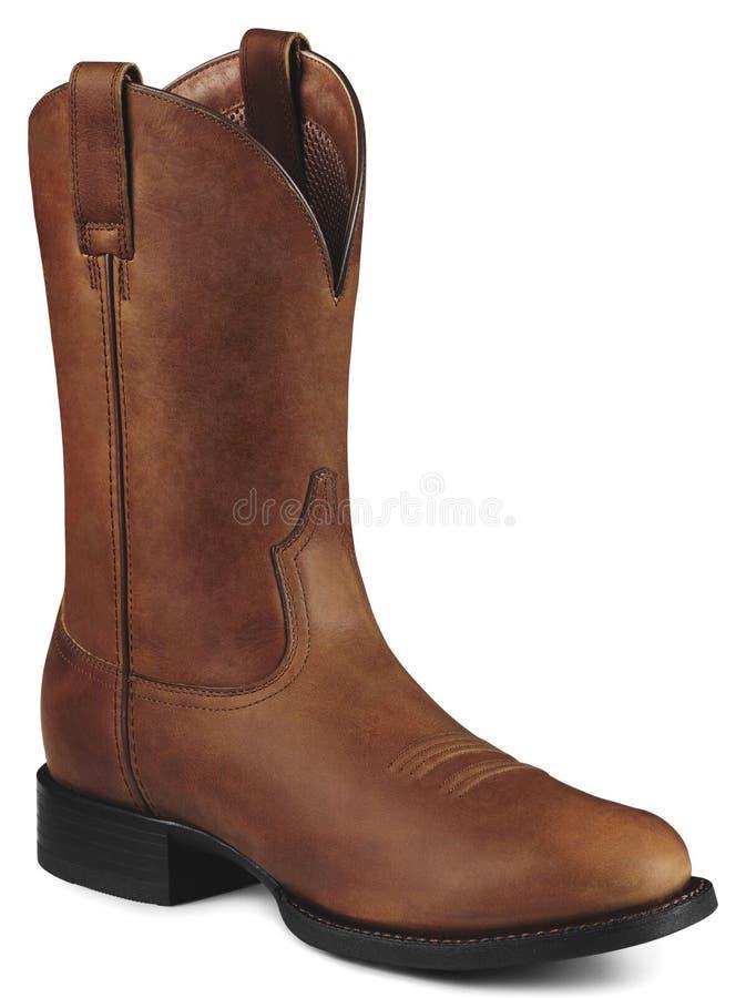 ковбой ботинка коричневый одиночный стоковое изображение rf