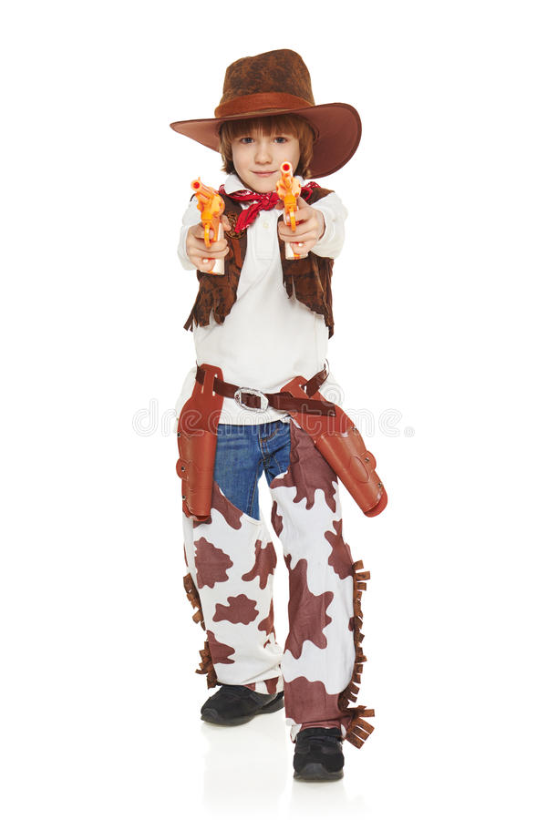 Ковбой мальчика стоковая фотография