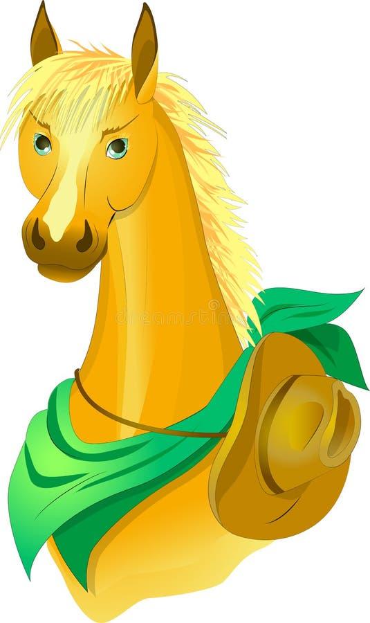 Ковбой лошади иллюстрация штока