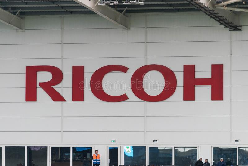 КОВЕНТРИ, ВЕЛИКОБРИТАНИЯ - 5-ое мая 2018 - взгляд стадиона арены Ricoh, Ковентри, западные Midlands, Англия, Великобритания стоковые фотографии rf