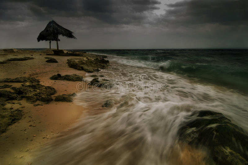 Когда плохая погода поражает стоковые фото