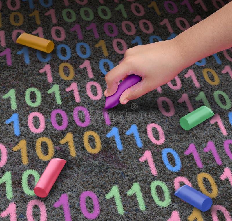 Кодирвоание для детей иллюстрация вектора
