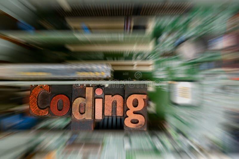 Кодирвоание для компьютерного программирования и превращаться стоковая фотография
