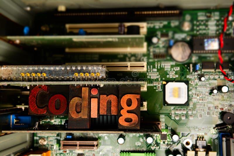 Кодирвоание и превращаться сети Учить закодировать и начать программное обеспечение стоковая фотография