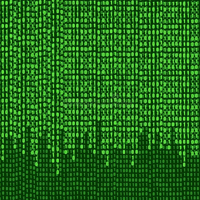 Кодовые номера вектора бинарные текут, предпосылка, светя иллюстрации иллюстрация штока
