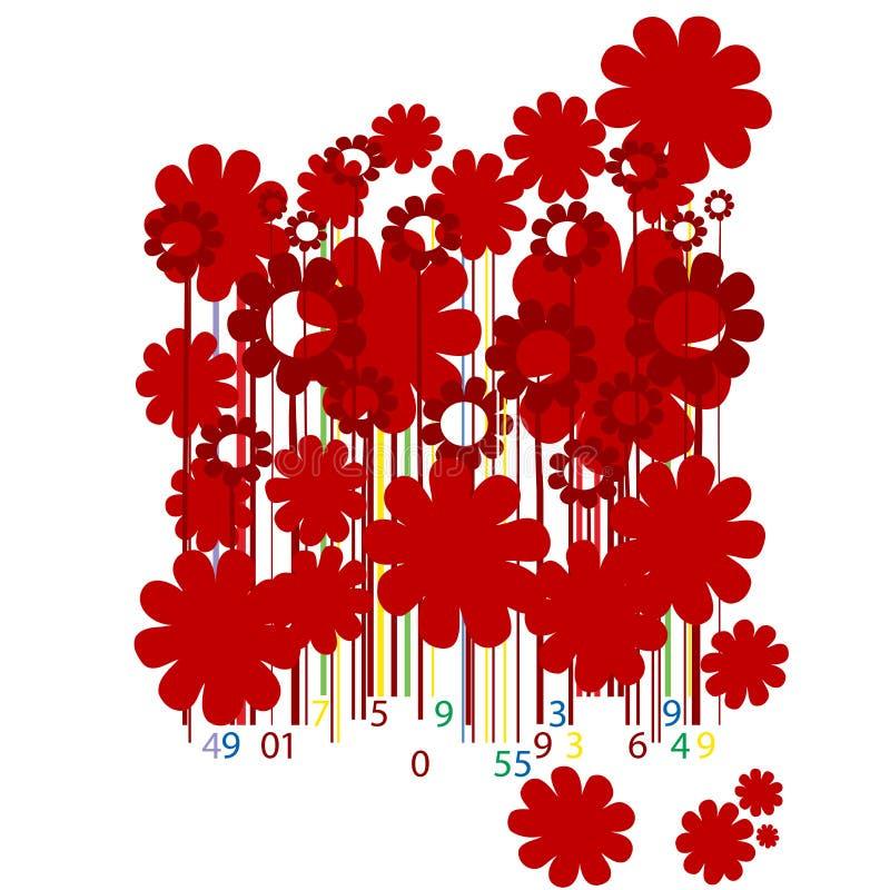 коды штриховой маркировки флористические бесплатная иллюстрация
