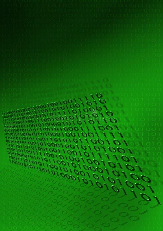 Код предпосылки бинарный цифровой иллюстрация вектора
