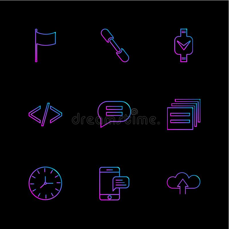 код, сообщение, вахта, seo, технология, интернет, флаги, c иллюстрация вектора