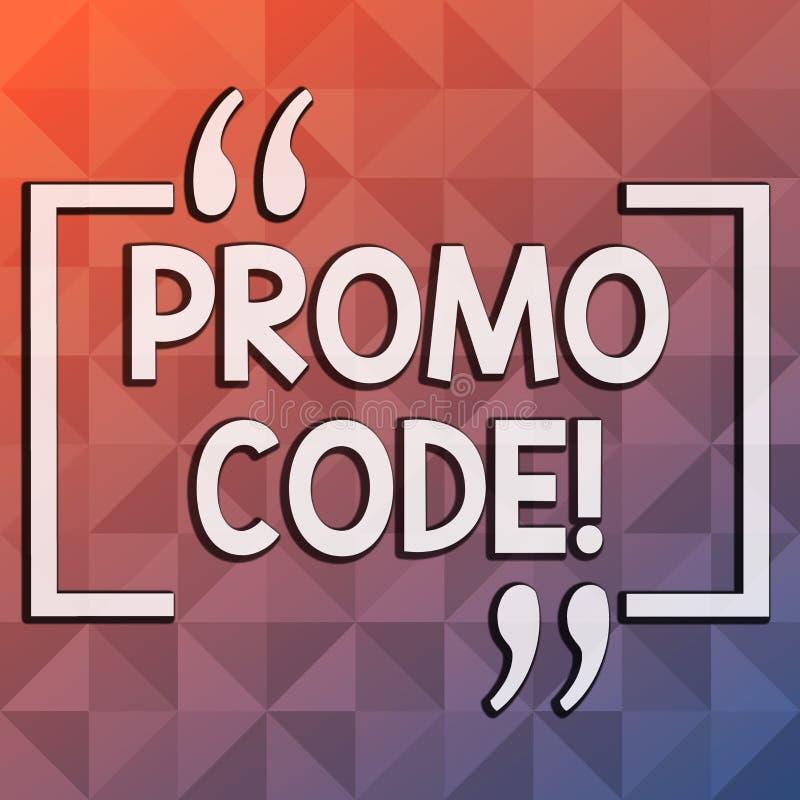 Код Promo текста сочинительства слова Концепция дела для состоя номеров писем потребители могут вписать получает скидку бесплатная иллюстрация