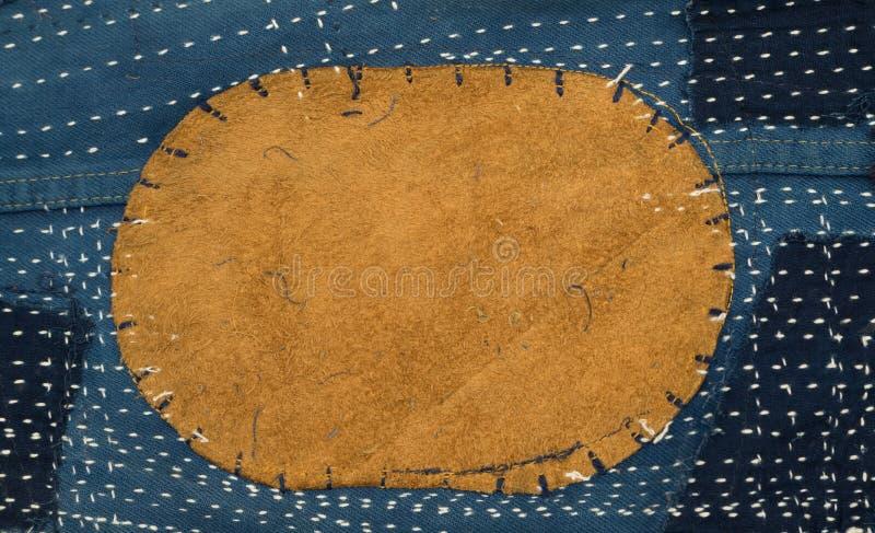 Кожаная картина ткани заплатки стоковые фото