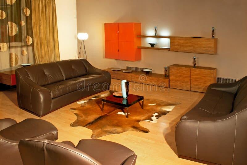 кожаная комната стоковое изображение rf