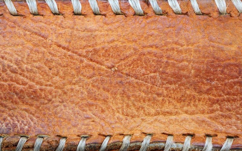 Кожаная коричневая предпосылка. стоковое фото