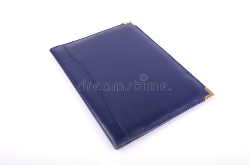 Кожаная папка для изолированного стола стоковая фотография