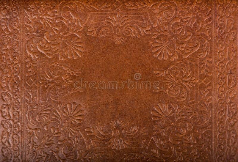 Кожаная предпосылка цветочного узора стоковые изображения rf