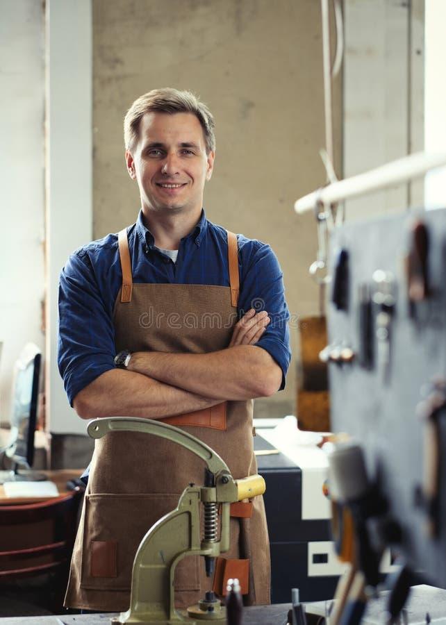 Кожаное предприниматель мастерской стоковое изображение