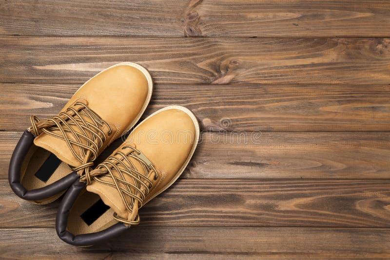 Кожаные ботинки стоковая фотография