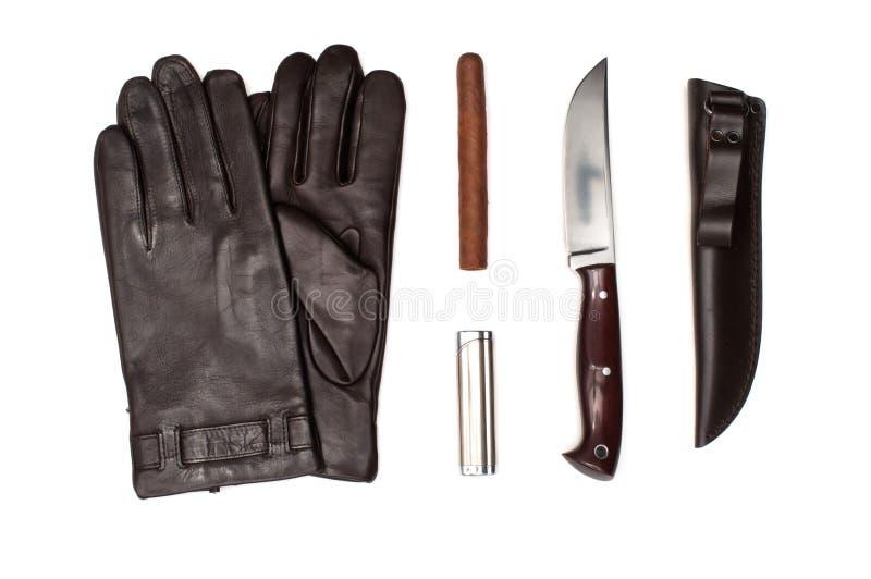 Кожаные перчатки людей стоковое фото