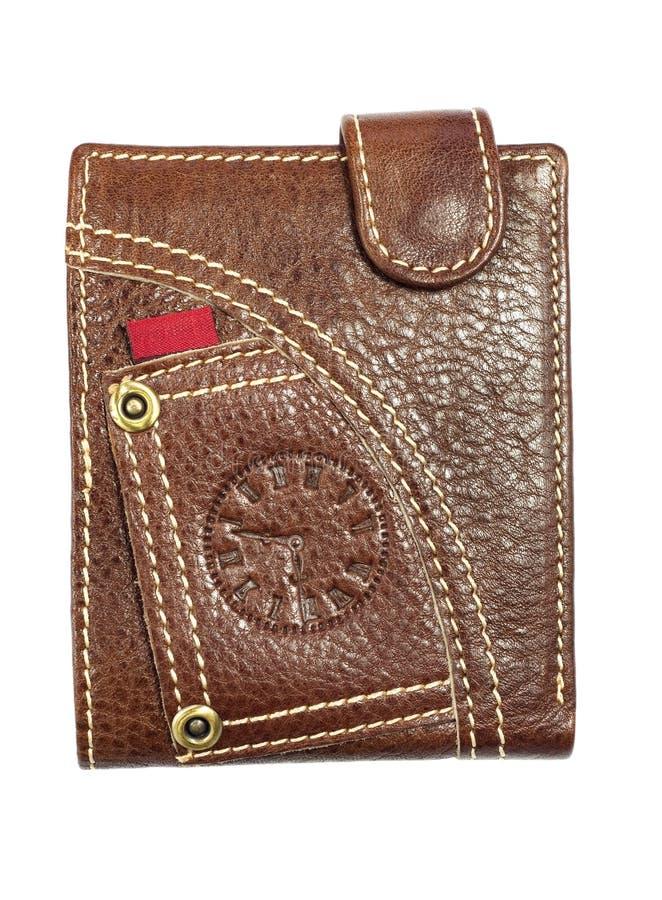 Download кожаный бумажник стоковое фото. изображение насчитывающей изоляция - 18379116