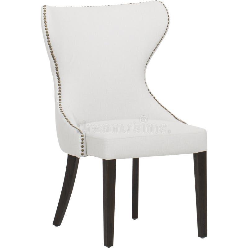 Кожаный диван мест уютный, софа 2 seater современная в светлом - серая ткань, 2-Seat софа, софа валика пера, стул столовой Sommer стоковое изображение