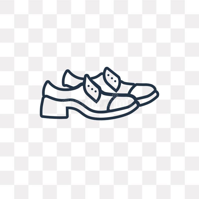 Кожаный значок вектора ботинка Дерби изолированный на прозрачном backgroun иллюстрация вектора