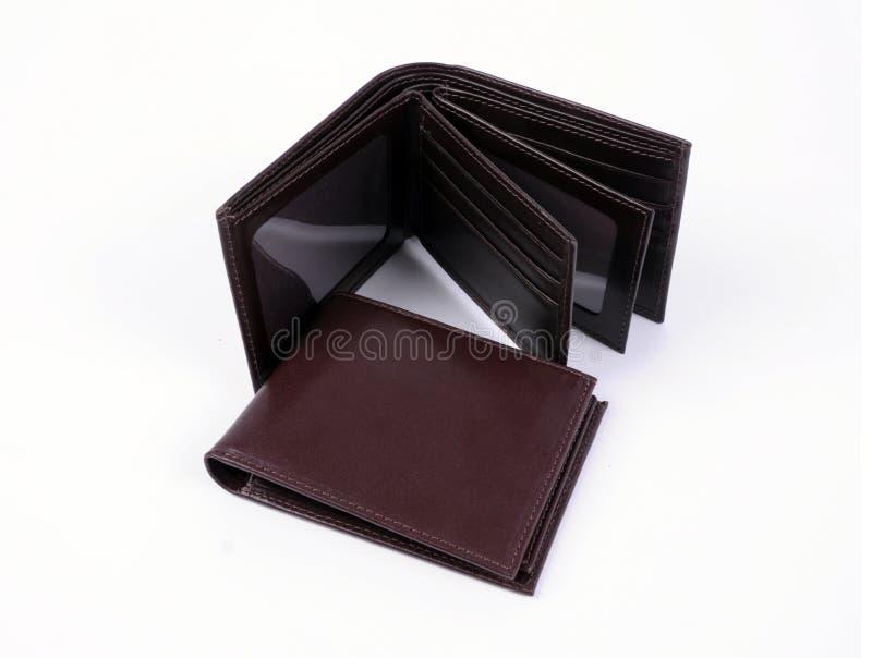 Кожаный изолированный бумажник стоковые фото