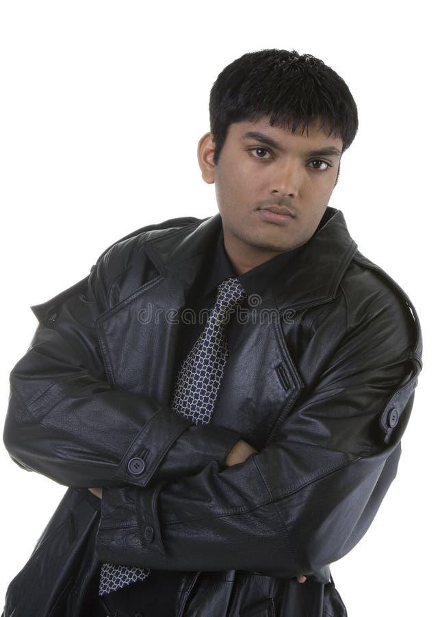 кожаный шанец человека стоковая фотография