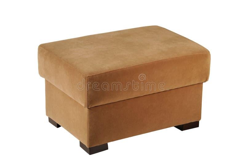 кожаный pouf стоковые изображения rf