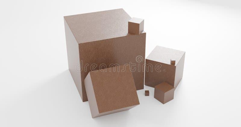 7 кожаных кубов бесплатная иллюстрация
