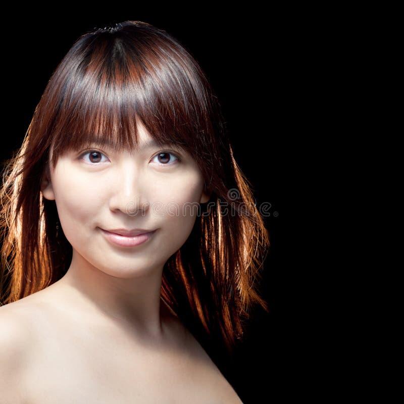 кожа азиатской красивейшей девушки совершенная стоковое фото