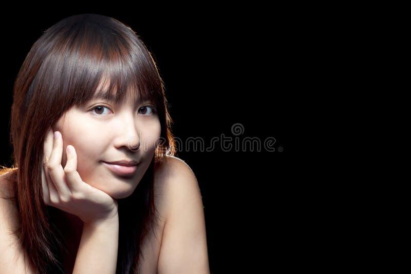кожа азиатской красивейшей девушки совершенная стоковая фотография