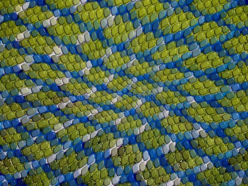 кожа зеленой ящерицы предпосылки голубая стоковые изображения